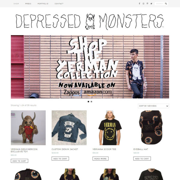Depressed Monsters Website