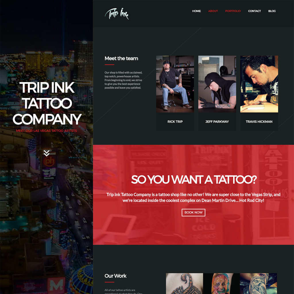 Trip Ink Tattoo Co Website